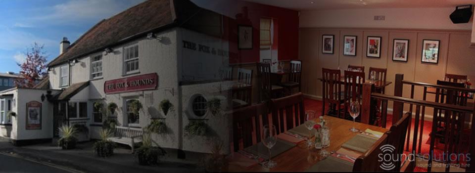 Sound Refurbishment for Pubs, Restaurants and Bars